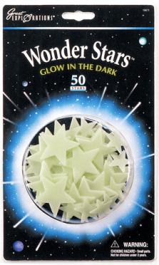 Étoiles phosphorescentes à coller au mur